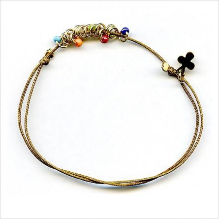 4mm beaded rings on sliding string