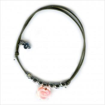 Bracelet boulier rose sur lien