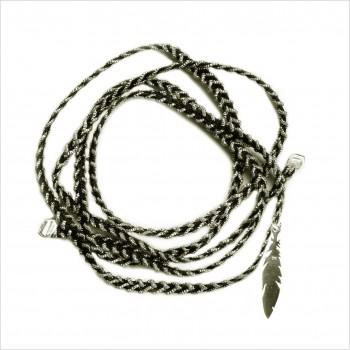 Bracelet découpés le plume 3 cm sur lien tréssés
