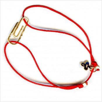 Bracelet découpés sur liens soyeux trombonne 2 cm