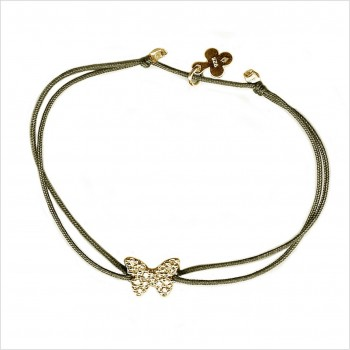 Zirconium butterfly on silky link