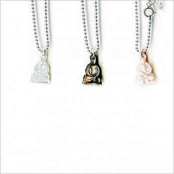 Collier nacre bouddha sur chaine forçat en argent - Bijoux modernes - Gag and Lou - Bijoux fantaisie