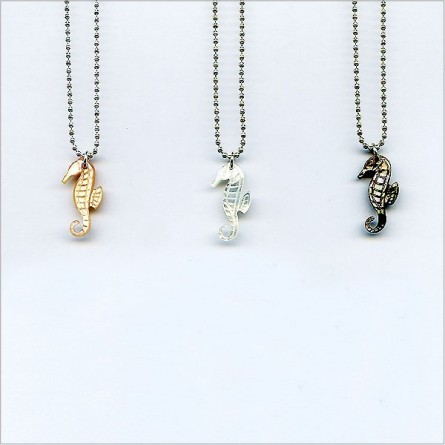 The pearly hippocampus on silver chain
