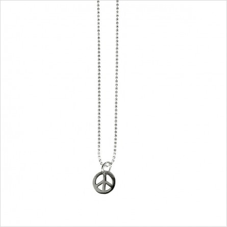 Bracelet ou collier minicharms peace and love 1 cm sur chaine miniboule