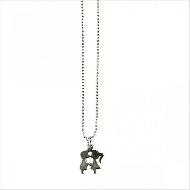 Bracelet ou collier minicharms amoureux 1 cm sur chaine miniboule