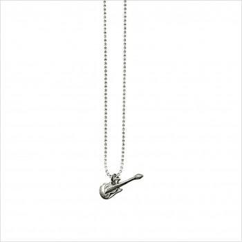 Bracelet ou collier minicharms guitare 1,5 cm sur chaine miniboule