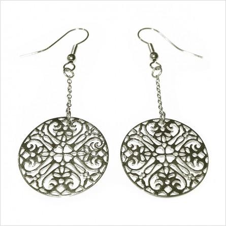 Lace earrings on chain