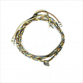 Mini Coeur brésilien tressé en argent - bijoux modernes - gag et lou - bijoux fantaisies