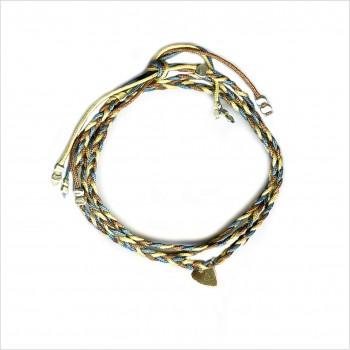 Mini Coeur brésilien tressé en plaqué or - bijoux modernes - gag et lou - bijoux fantaisies