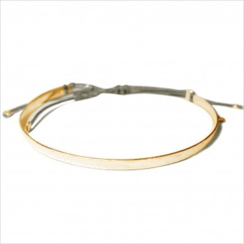 The hammered flat knotted bangle