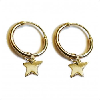 Hoop earrings with a star