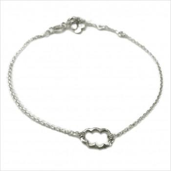 Bracelet nuage évidé sur chaine en argent - bijoux fins et fantaisies