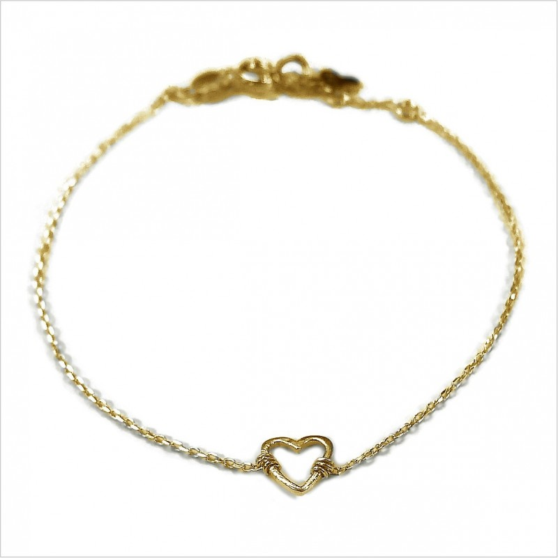 The outlined heart on chain