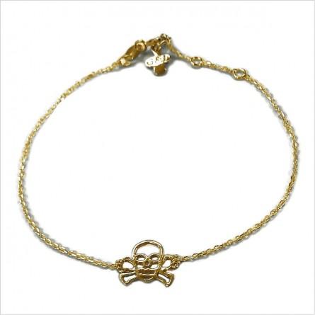 Hollow skull on chain