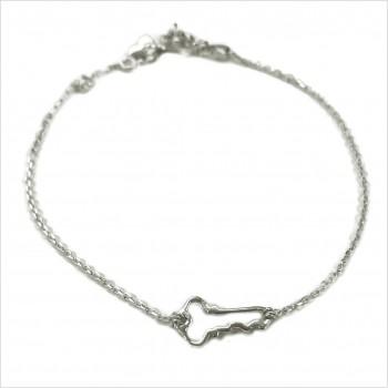Bracelet clé évidée sur chaine en argent - bijoux fins et fantaisies