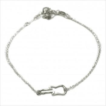 Bracelet guitare évidée sur chaine en argent - bijoux fins et fantaisies