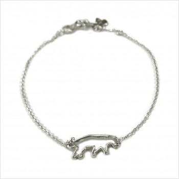 Bracelet panthère évidée sur chaine en argent - bijoux fins et fantaisies