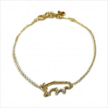 Bracelet panthère évidée sur chaine en plaqué or - bijoux fins et fantaisies