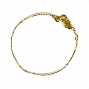 Bracelet chaine forçat simple 16 cm ajustable en plaqué or - Bijoux modernes - Gag et Lou - bijoux fantaisie