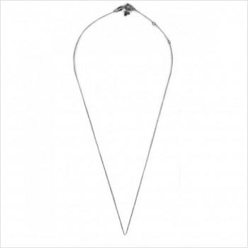 Collier chaine simple 45 cm ajustable en argent - Bijoux fantaisie
