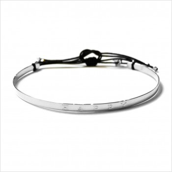 The flat knotted Happy bangle