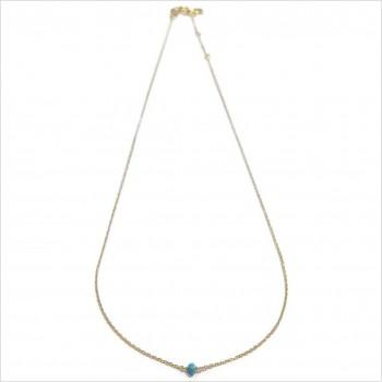 Collier Délicat en plaqué or avec une pierre semi-précieuse en Apatite - Bijoux modernes - gag et Lou - bijoux fantaisie