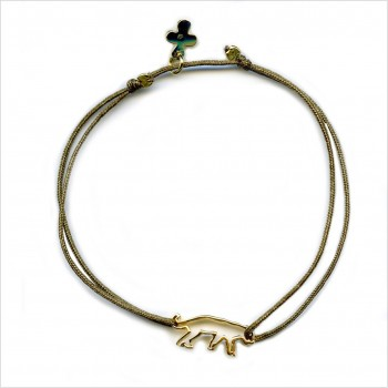 The outlined panther sliding bracelet