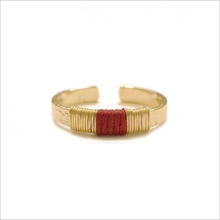 The ethnic hammered flat ring