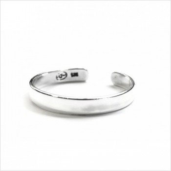 Bague anneau en argent ajustable lisse - bijoux fins de créateur