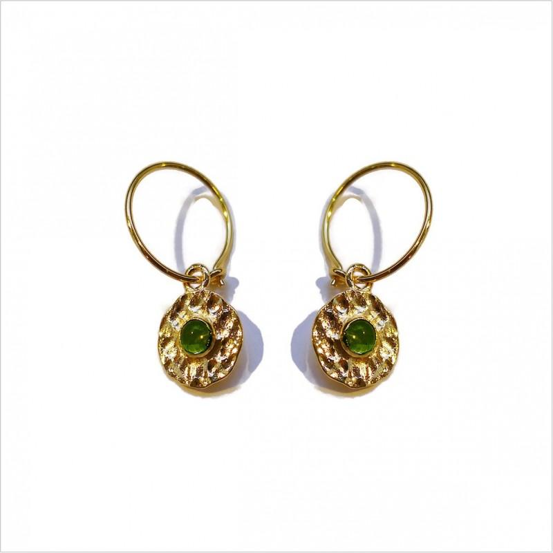 Hammered Delhi hoop earrings