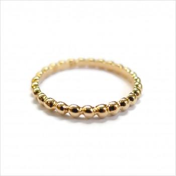 Bague mini boules en plaqué or - Bijoux fins et intemporels