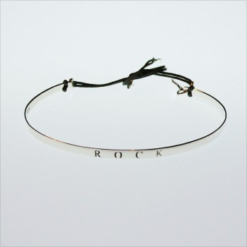 Rock flat knotted bangle
