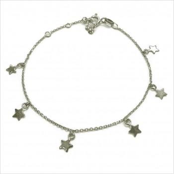 Bracelet petites médailles étoiles en argent - Bijoux fins et fantaisies