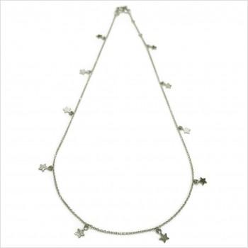 Collier petites étoiles sur chaine en argent - Bijoux tendance