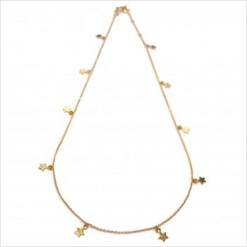 Collier petites étoiles sur chaine fine en plaqué or - Bijoux fins et tendances