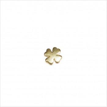 Boucles d'oreilles puce trèfle en plaqué or - Bijoux fins de créateur