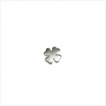 Boucles d'oreilles puce trèfle en argent - Bijoux fins de créateur