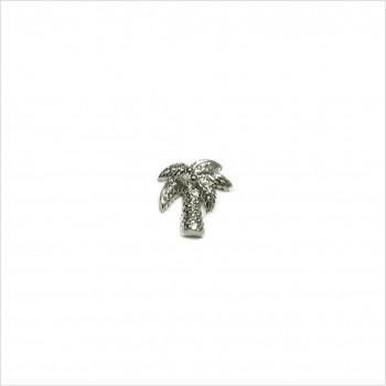 Boucles d'oreilles puce palmier en argent - Bijoux fins de créateur