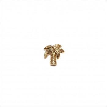 Boucles d'oreilles puce palmier en plaqué or - Bijoux fins de créateur