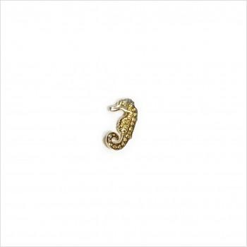 Boucles d'oreilles puce hippocampe en plaqué or - Bijoux fins de créateur