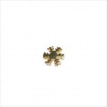 Boucles d'oreilles puce flocon de neige en plaqué or - Bijoux fins de créateur
