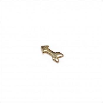 Boucles d'oreilles puce flèche en plaqué or - Bijoux fins de créateur