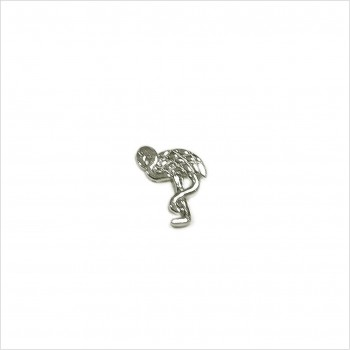 Boucles d'oreilles puce flamant rose en argent - Bijoux fins de créateur