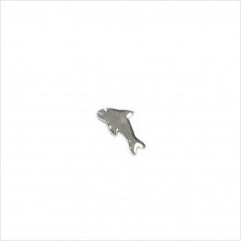 Boucles d'oreilles puce dauphin en argent - Bijoux fins de créateur