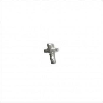 Boucles d'oreilles puce croix en argent - Bijoux fins de créateur