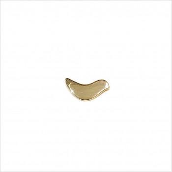 Boucles d'oreilles puce oiseau colombe en plaqué or - Bijoux fins de créateur