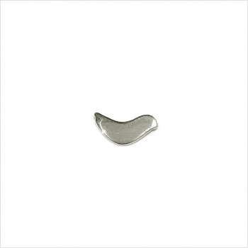 Boucles d'oreilles puce oiseau colombe en argent - Bijoux fins de créateur