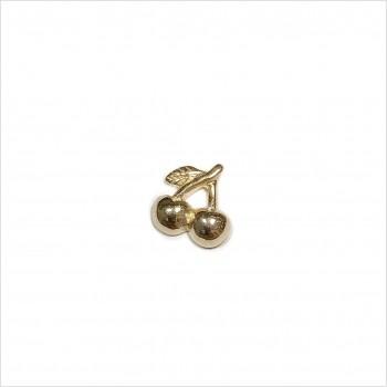 Boucles d'oreilles puce cerise en plaqué or - Bijoux de créateur