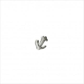 Boucles d'oreilles puce ancre marine en argent - Bijoux fins de créateur