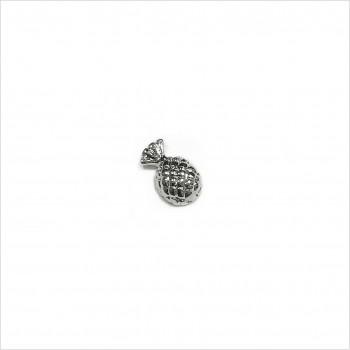 Boucles d'oreilles puce ananas en argent - Bijoux fins de créateur